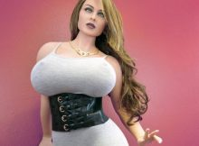 MILF Sexy Love Doll with Huge Boobs