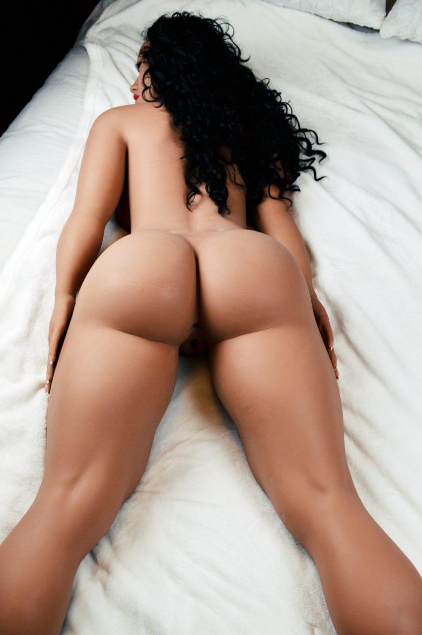 Brunette real size sex doll